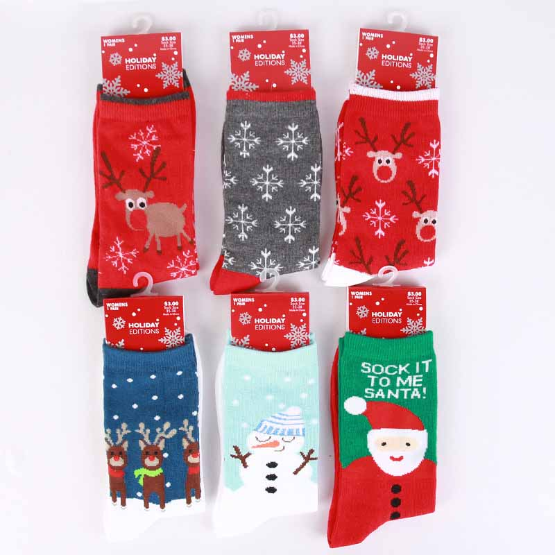 Fashion Leisure Winter New Men Christmas Cotton   Sock   Women lovely Cartoon Reindeer Santa Claus Thick Short   Socks   Hosiery