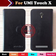 6 Colors Hot!! In Stock UMI Touch X Case Ultra-thin Leather Exclusive For UMI Touch X Phone Cover+Tracking