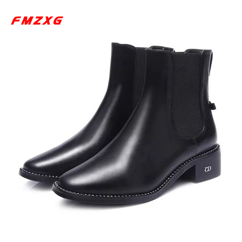 Leather Women's Boots Motorcycle Winter Fashion Shoes Woman Designer Luxury Brand Genuine Leather High Quality Short Boots Women 2017 free genuine leather motorcycle boots biker shoes women pointed snow boots brand shoe famous designer woman flats