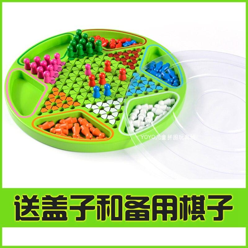 Stern-Halma En Bois Jeu De Dames Hexagonale Dames Chinoises Puzzle Jouets Éducatifs Pour Enfants Famille Partie Jeu de Société