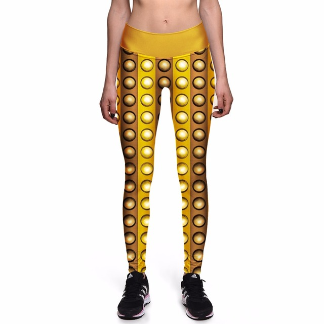 NEW 0032 Sexy Girl Doctor Who Dalek Gold Rivet Prints Slim High Waist Workout Fitness Women Leggings Pants Trousers Plus Size