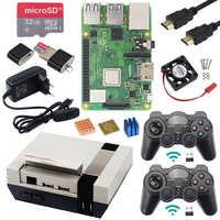 Raspberry Original Pi 3 modèle B + avec kit de jeu WiFi & Bluetooth + boîtier + alimentation + contrôleurs de jeux USB alimentation pour Retrpie Pi 3B Plus