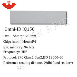 Image 4 - Ультратонкая метка UHF RFID, анти металлическая метка omni ID IQ150 915m 868 МГц Impinj MR6 10 шт. Бесплатная доставка для печати, маленькая пассивная метка RFID