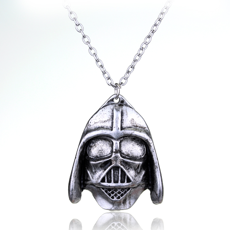 dongsheng Star Wars Mask Pendant Necklace Star Wars Warrior Charms Choker Necklace for Men Women Jewelry-30