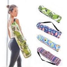 Canvas Yoga Bag Mat Gym Backpack Pilates Case Single Shoulder Carriers for less 6mm(only bag)