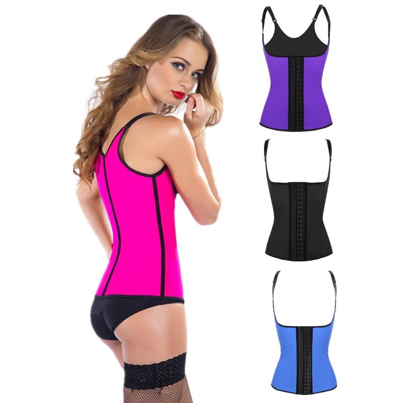 4 Colors latex waist cincher latex waist trainer plus size waist Trainer corsets corselet sexy steel boned bustiers corset