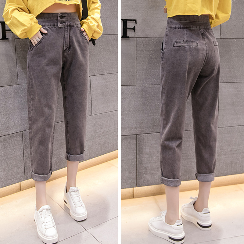 JUJULAND 2018 Autumn Clothes Ladies High Waist Female Boyfriend Jeans For Women Trousers Pants Denim Ripped Jean Woman Plus Size in Jeans from Women 39 s Clothing
