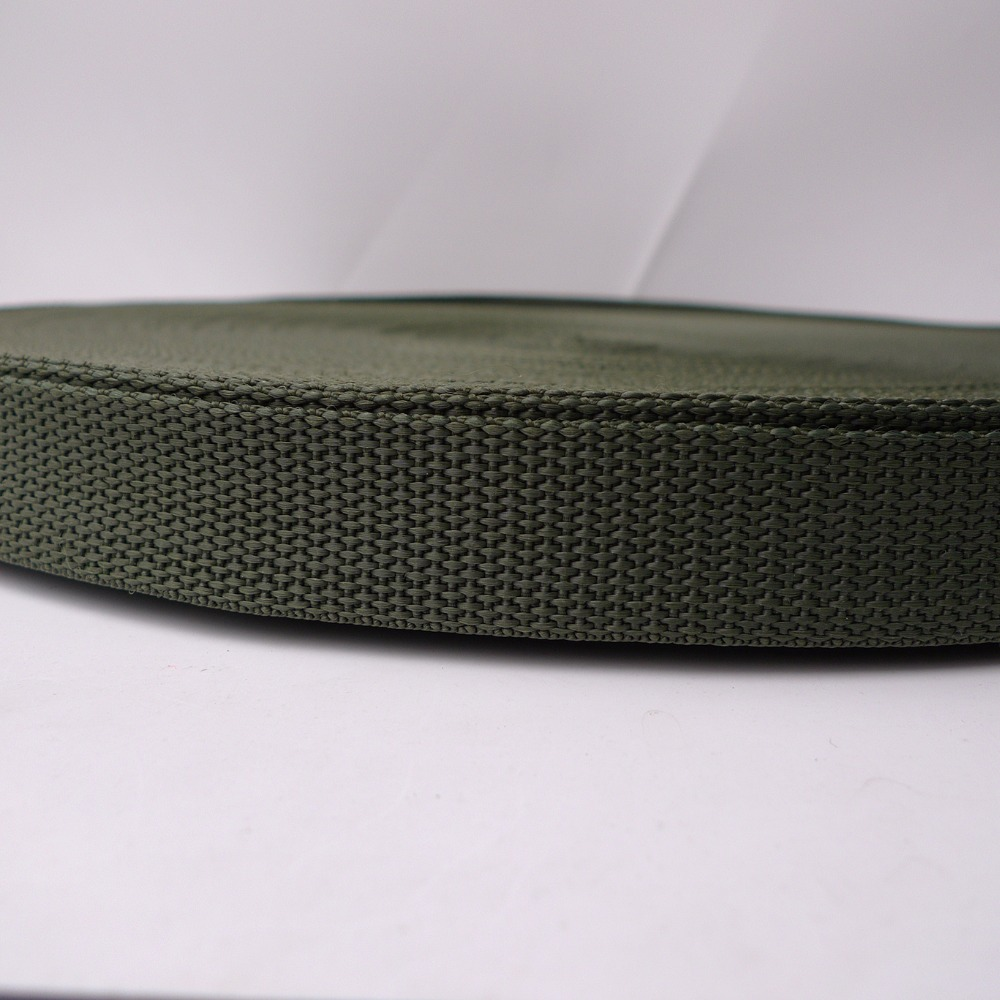 1 25mm 12 Army Green Color Nylon Polypropylene Bag Straps Webbing 100 Yards