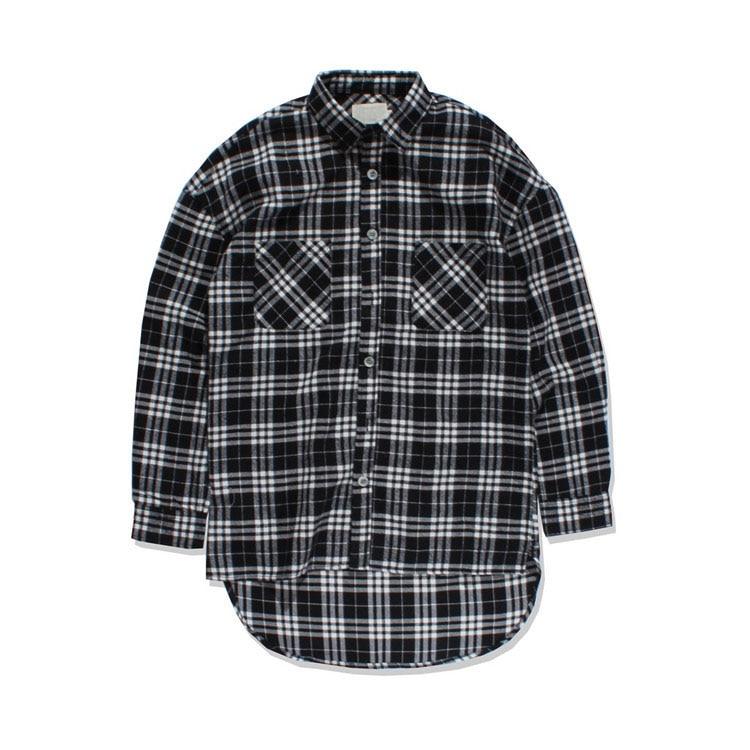 Popular Black White Flannel Shirt-Buy Cheap Black White Flannel ...