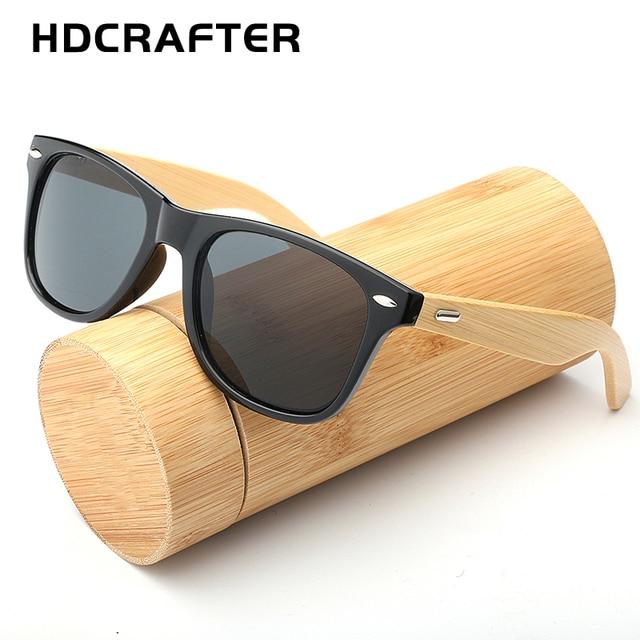 4d5a92cde7cd7 HDCRAFTER Novos Óculos De Sol Dos Homens de Bambu De Madeira óculos de Sol  Das Mulheres