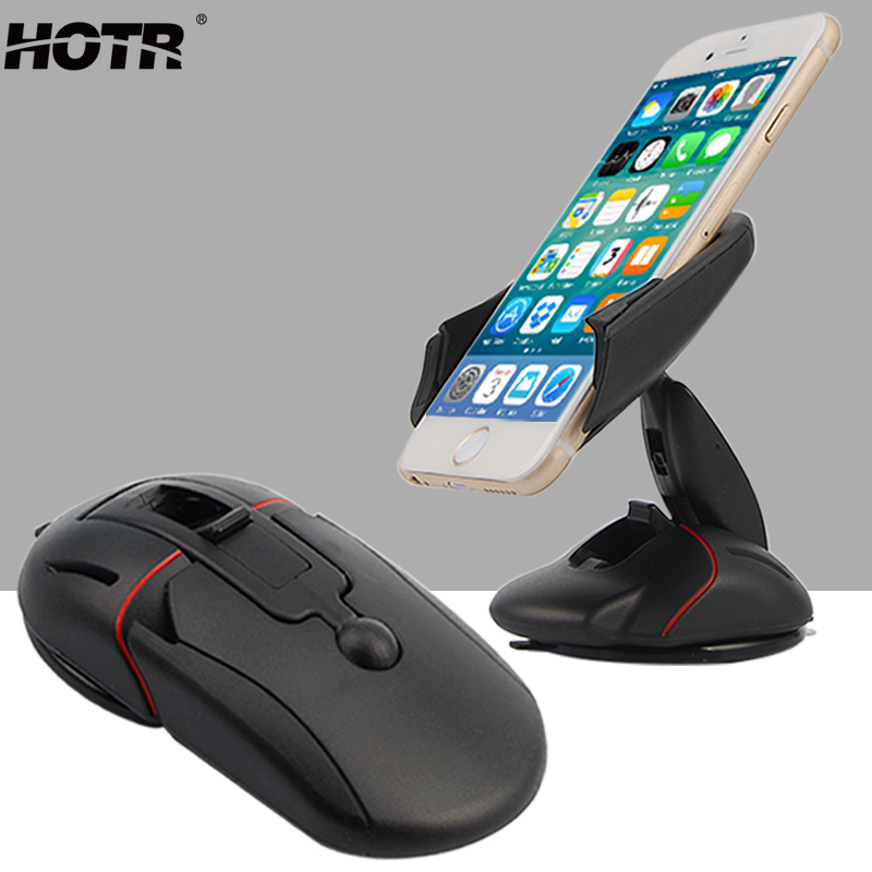 US $3 99 20% OFF|HOTR Mouse Auto Car Phone Holder GPS Stand Mount Rotatable  Car Windshield Holder Bracket For Iphone Samsung For Huawei Xiaomi-in