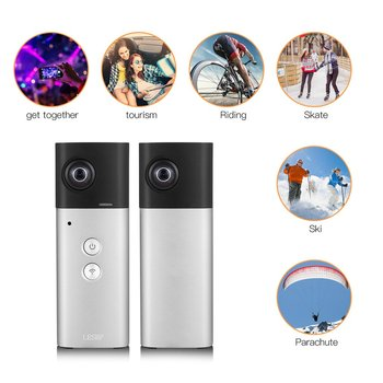 360 Degree Camera VR Camera Panoramic View Wifi Dual Lenses Spherical Video Image Real Time Seamless Recorder 8MP 1