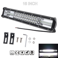 7D 16 Inch 360W Car LED Work light Bar Triple Row Spot Flood Combo Offroad Light Driving Lamp for Truck SUV 4X4 4WD ATV