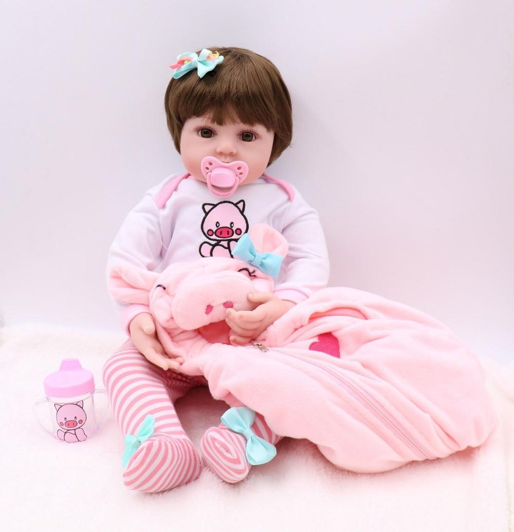 NPK 47 см Реалистичная кукла reborn baby bebe, Кукла reborn baby girl, Мягкий силикон, винил, набивное тело, Рождество, сюрприз, подарки, кукла