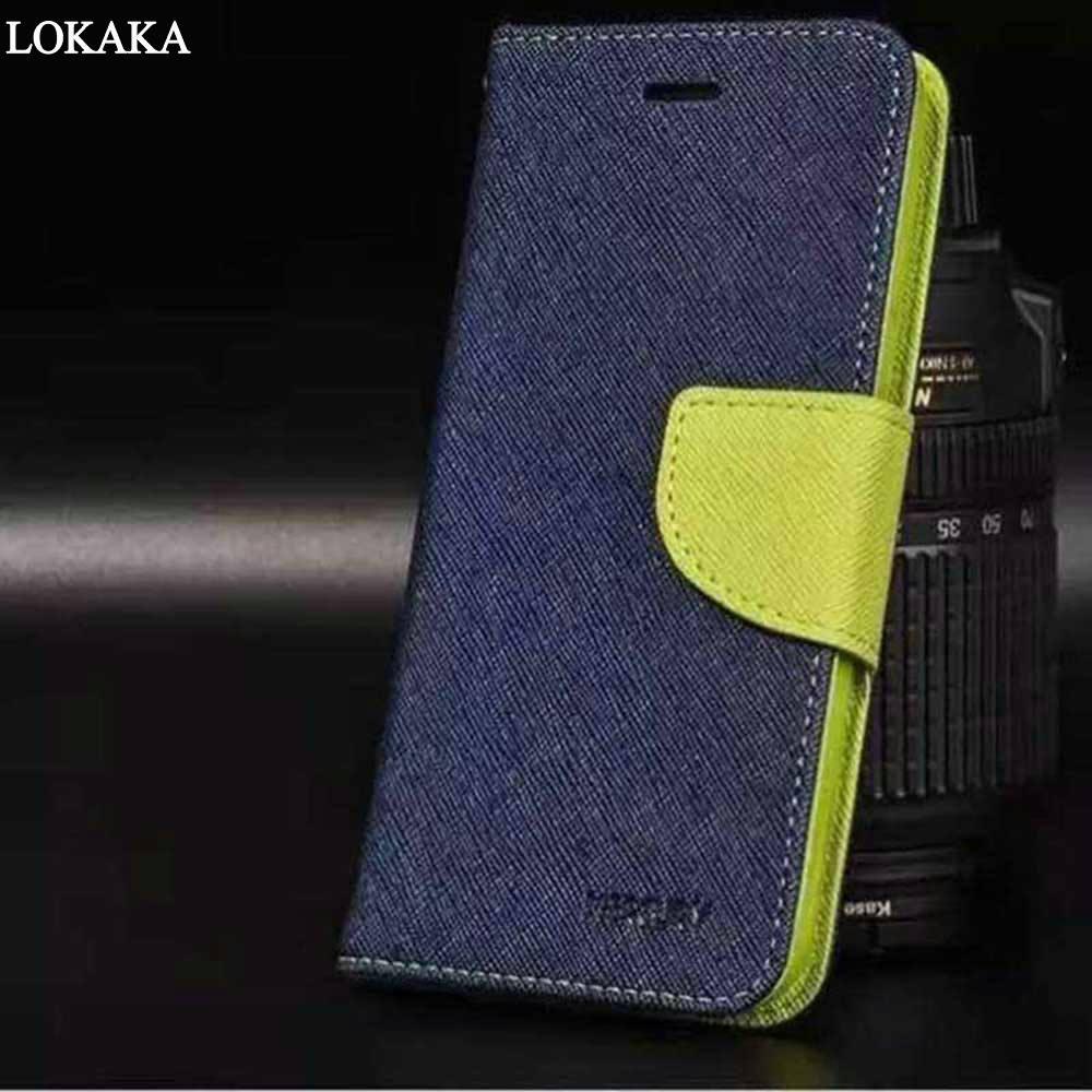 Galleria fotografica LOKAKA Double Color For Asus Zenfone Go ZB500KL Case Flip <font><b>Cover</b></font> Wallet Magnetic Silicone Phone Bag Cases for Asus ZB500 500kl