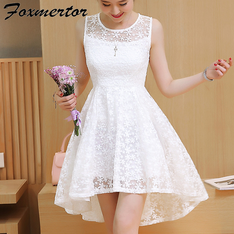 2017 new summer girl women dress dovetail mini wedding for Short white summer wedding dresses