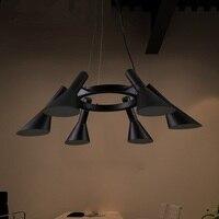 IWHD гладить Винтаж лампа ретро промышленные подвесные светильники Лофт Стиль 6 головок Lamparas светодиодный Iluminacion кафе Lampen