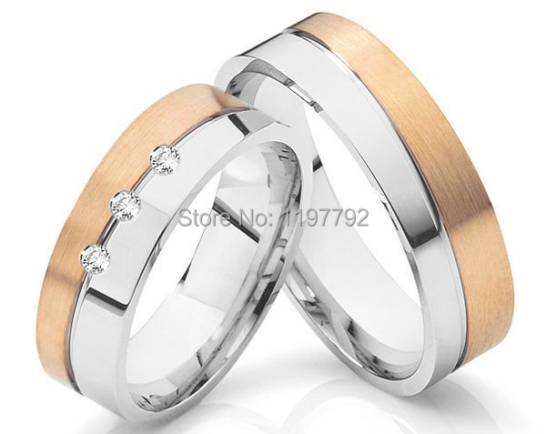 2014 discount cheap tailor made  rose gold colour His and Hers couple Rings2014 discount cheap tailor made  rose gold colour His and Hers couple Rings