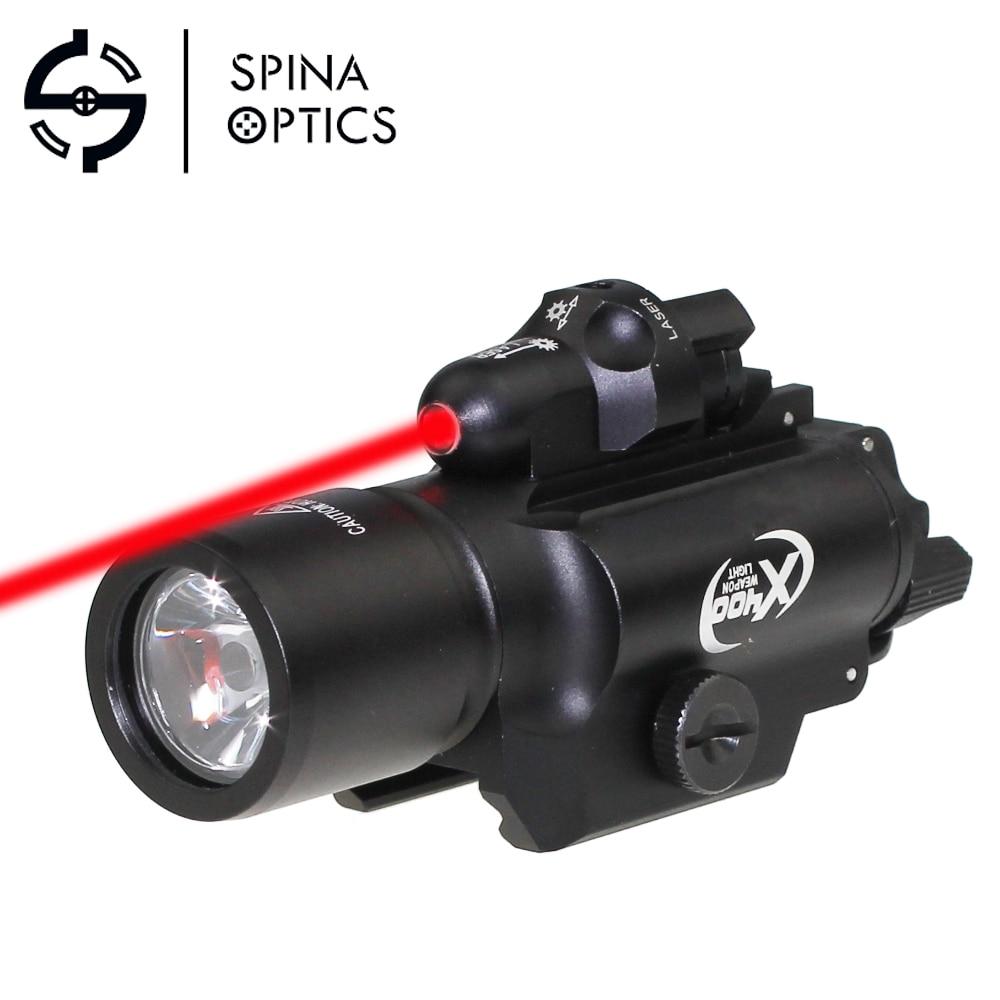 hungting sf x400 x400u led lanterna tatica luz arma luz com mira laser vermelho para pistola