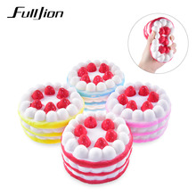 Fulljion Fun Antistress Squishy Cake Novelty Gag Toys Funny Squishes Gadget Stress Relief Practical Jokes Toys
