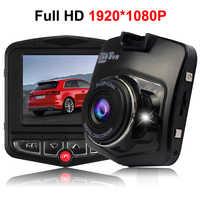 Dashcam DVR Full HD 1080 P G-sensor visión nocturna gran angular Dash cámara Video Auto grabadora camara Coche DVR registrador