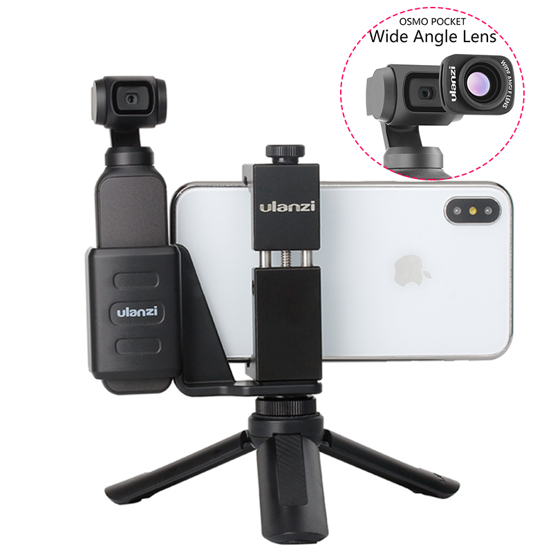 OSMO Pocket Handheld Phone Holder Bracket Fixed Stand Mobile Holder Clamp w Large Wide Angle Lens for DJI OSMO Pocket dropship-in Gimbal Accessories from Consumer Electronics on Aliexpress.com | Alibaba Group