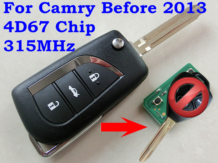 RMLKS удаленный Управление модифицированный ключ 3 кнопки 315 МГц 4D68 чип лезвие toy43 для Пластиковая пилочка для ногтей Prado RAV4 Vios Hilux, Yaris