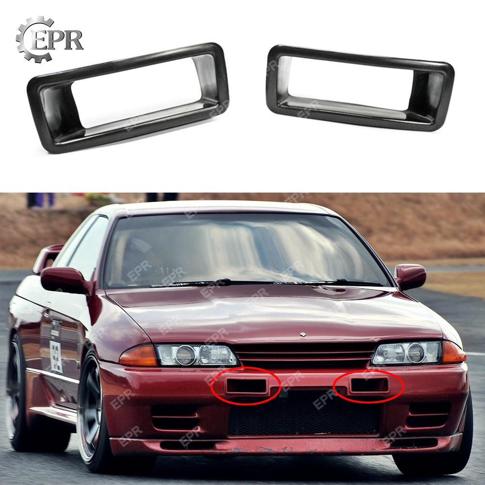 For Skyline GTR R32 N1 FRP Fiber Glass Bumper Vents For Nissan R32 Fiberglass Bumpers Air Intake Duct Trim R32 Tuning Part