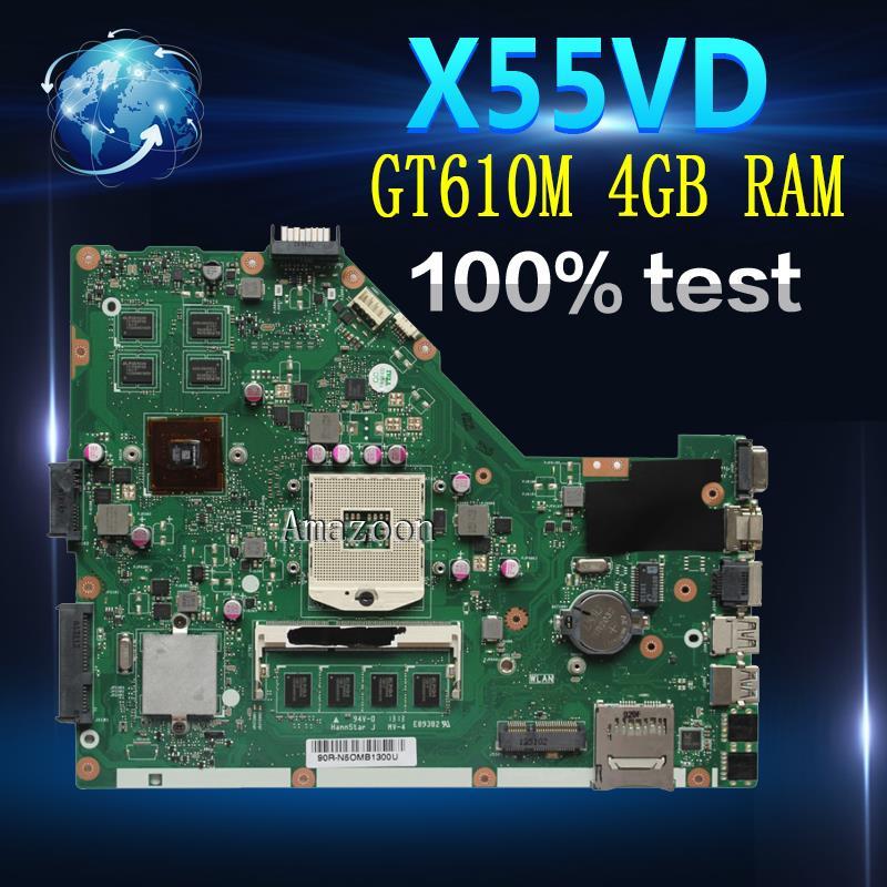 For ASUS X75 X75V X75VC X75VD X75VB Motherboard W// I3-2350M REV 3.0 Mainboard