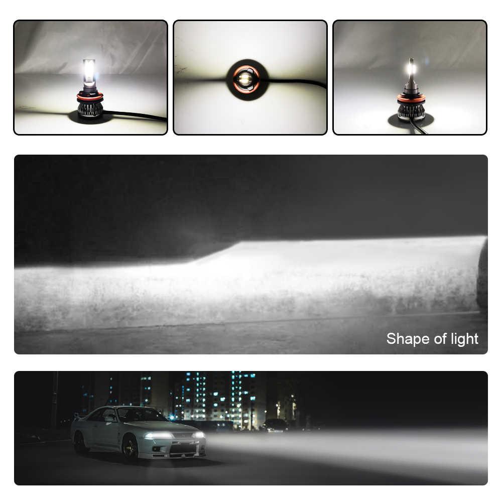 2 шт. мини Размеры H4 H7 светодиодный H1 H11 H8 H9 HB4 HB3 9005 9006 светодиодный фары для автомобиля свет Противотуманные фары 90 Вт 60500 к 12000lm 12v
