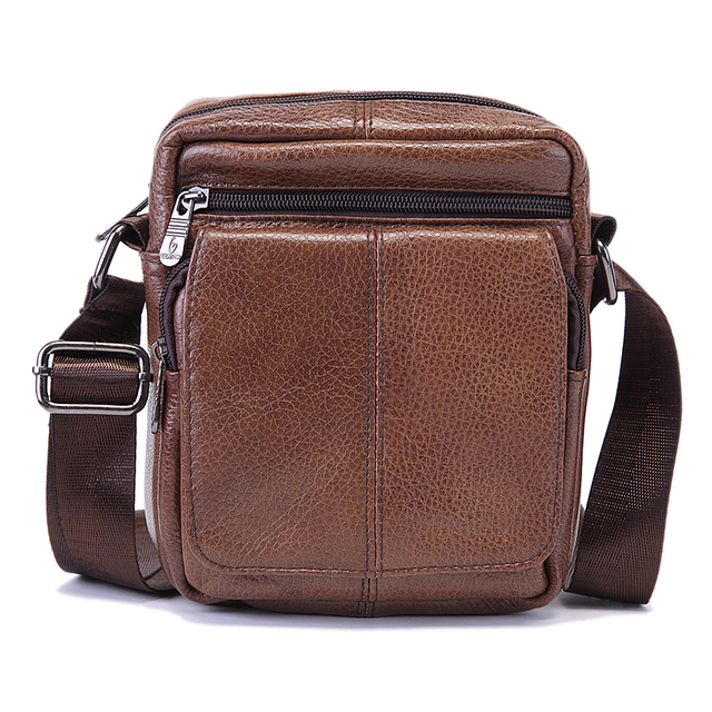 2ebceb4e1f70b4 Cow Genuine Leather Messenger Bags Men Casual Travel Business Small  Crossbody Fashion Vintage Shoulder Bag for Man Hot sale