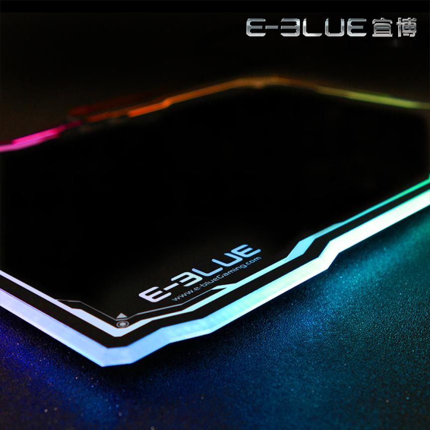 New LED Lighting Hard Gaming Mouse Pad Mat With Anti-Slip Rubber 39 * 28CM For Optical Mouse Universal Game Mouse Mice Mat Pad rubber mouse pad mat black