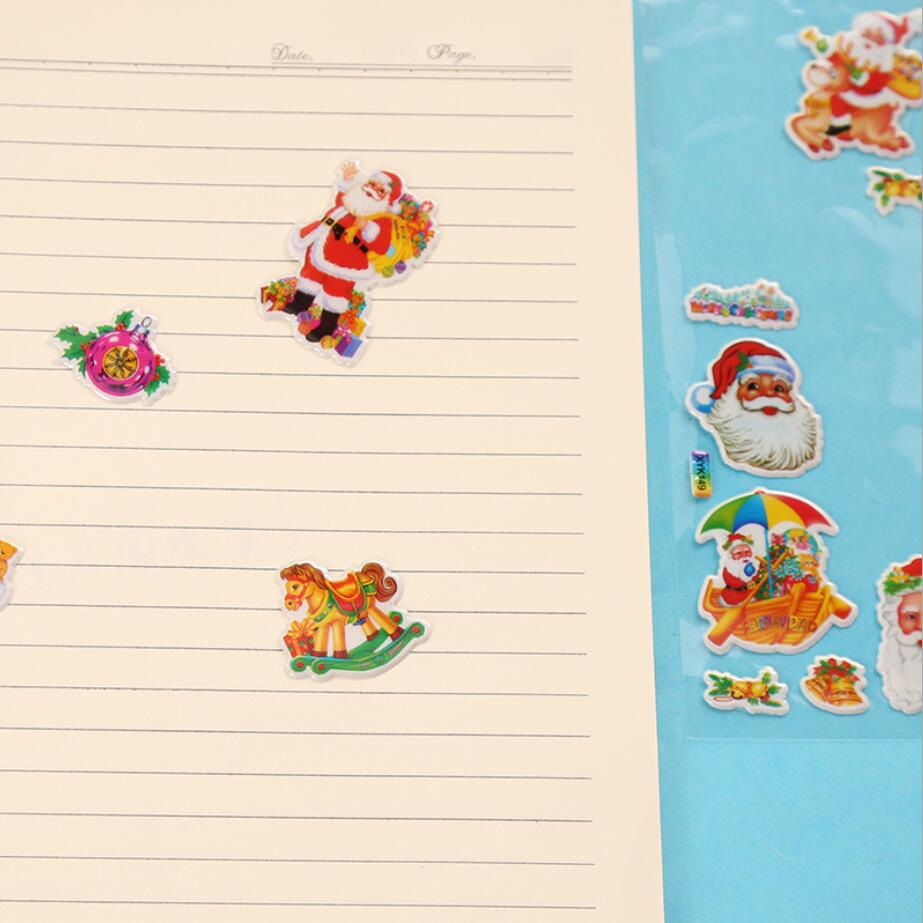 4pcs 3D Santa Claus Merry Christmas Holiday For Kids Funny Albums ...