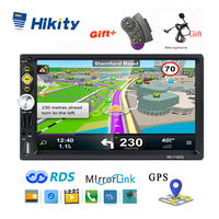 Hikity 2 din GPS Car Radio 7 HD RDS Car Stereo IOS/Android Mirror Link Steering Wheel Control Support Micphone Rear View Camera