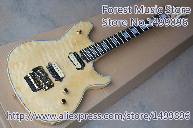 Custom Shop Cream Quilted Finish Wolfgang EVH Electric Guitars Left Handed Custom Available hot selling glossy brown finish sg electric guitars as picture left handed custom available