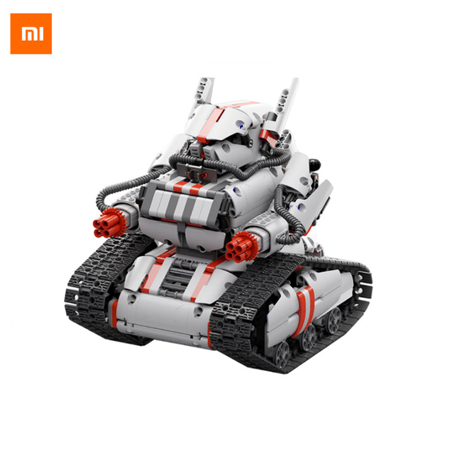 Newest Mitu Robot Tank Mecha Crawler Base Xiaomi Mitu Building Block Robot Crawler Tank Version Controll By Smartphone Mi home