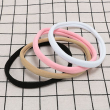 цены 10Pcs Hot Sale New Solid soft and flexible Elastic Seamless Hair Band Headband Headwear Accessories for Girls Boys Women