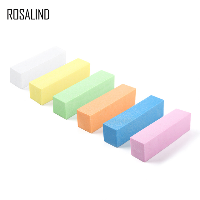 ROSALIND 1PCS Sanding Sponge Nail File Buffer Block for UV Gel Nail ...