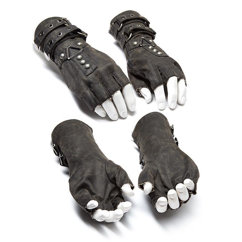Punk Rave hommes Steampunk ceinture boucle Rivet gants S-252