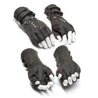 Punk Rave Men's Steampunk Belt Buckle Rivet Gloves S 252