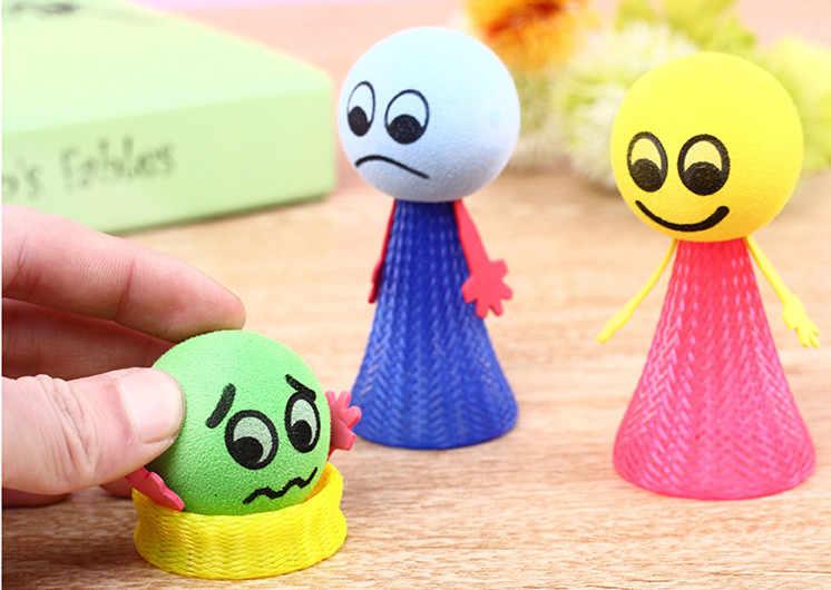 5 ピース/ロットたちがボールおもちゃギフト教育ゲーム表現プッシュダウンヒップホップジャンプ人形おもちゃギフト子供のための