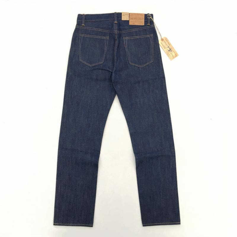 BOB DONG Vintage 14.5 oz erkek kot Selvaj Düz Kot Pantolon Mavi YıKANMAMıŞ Denim Pantolon Erkekler Sonbahar Kış kot