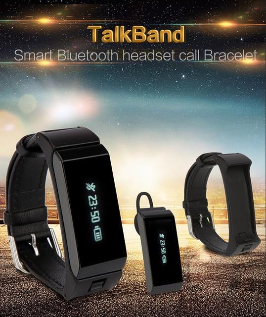 2017 Más Nuevo Original TalkBand K2 Inteligente Pulsera Bluetooth de modo Dual Monitor de Sueño Smartwatch Teléfono Compañero de Banda Pulsera