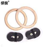 High quality birch wool home gymnastics rings adjustable length fitness equipment gym rings free shipping