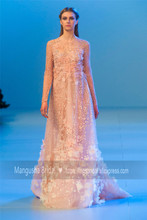 2016 Elie Saab Design Abendkleid Wunderschöne Blumen Perlen Luxus Kleider Cocktail Party Heißer Verkauf Robe De Soiree MY1019-22