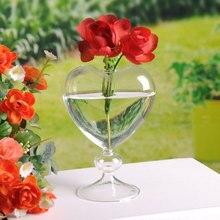 flower pots planters heart glass vase home decoration flower vase desktop vase decorative vase glass planter wedding decoration