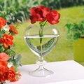 Macetas macetas florero cristal del corazón decoración del hogar escritorio jarrón florero jarrón decorativo de vidrio planter decoración de la boda