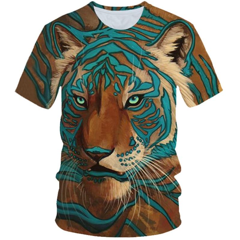 T-Shirt Boys Tiger Punk-Style Leopard Kids Key-Printed Girls Fashion Zebra 3D Piano Animal