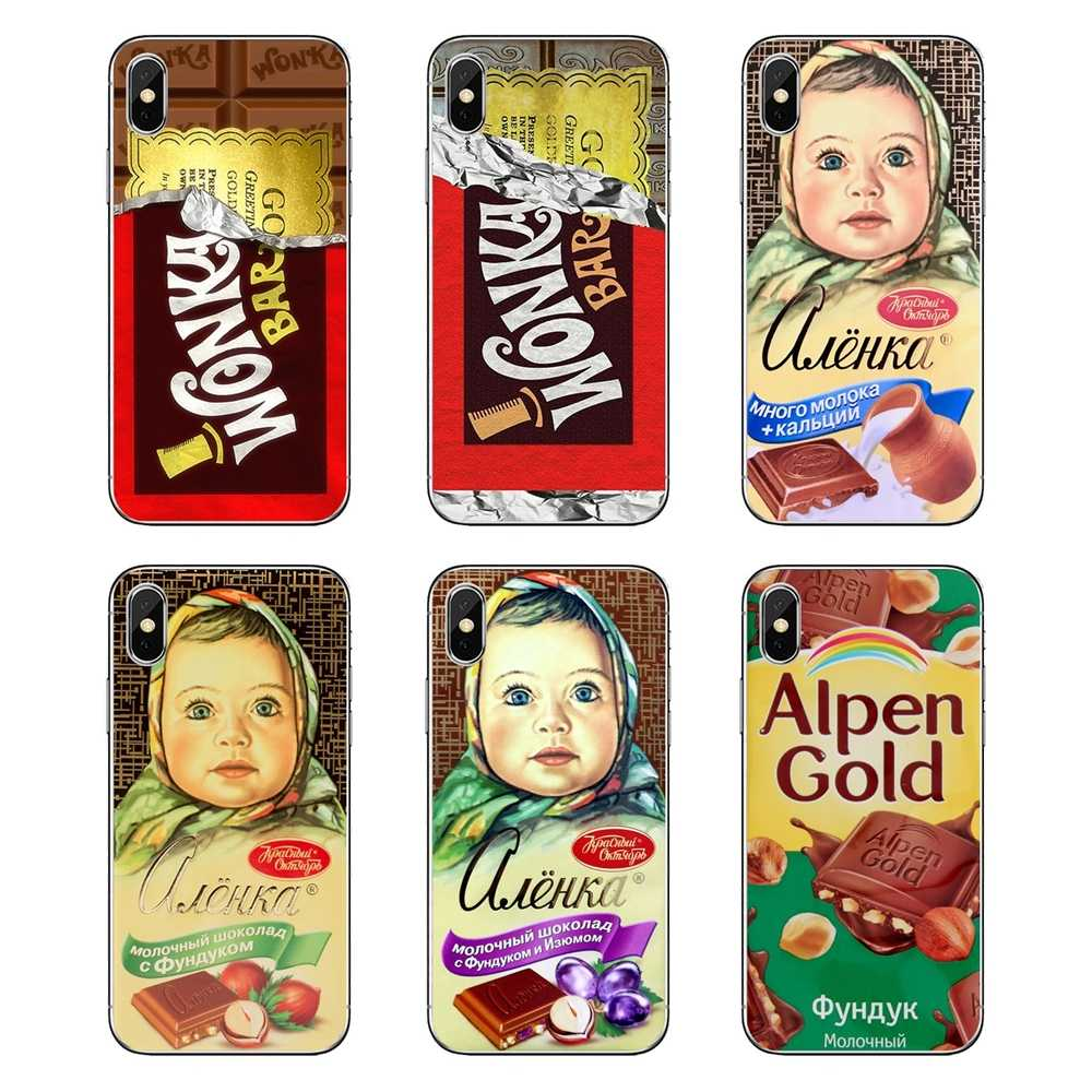 Alenka bar wonka chocolat pour iPod Touch iPhone 4 4 S 5 5 S 5C SE 6 6 S 7 8 X XR XS Plus MAX coques souples transparentes