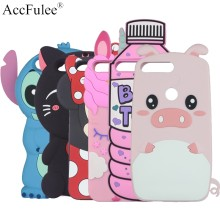 Lucu Stitch Kelinci Kuda untuk Huawei Honor 5A LYO-L21 6C 6A 6X7X7 S 7A Pro 7C 8 Lite 9i 10i Ice Cream Kucing Botol Babi Cover(China)